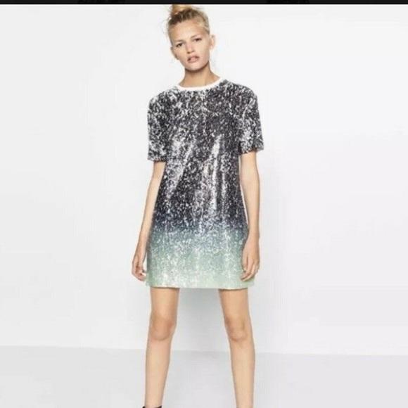 4b08cab2 Zara Dresses   Final Price Drop Ombre Sequin Dress   Poshmark